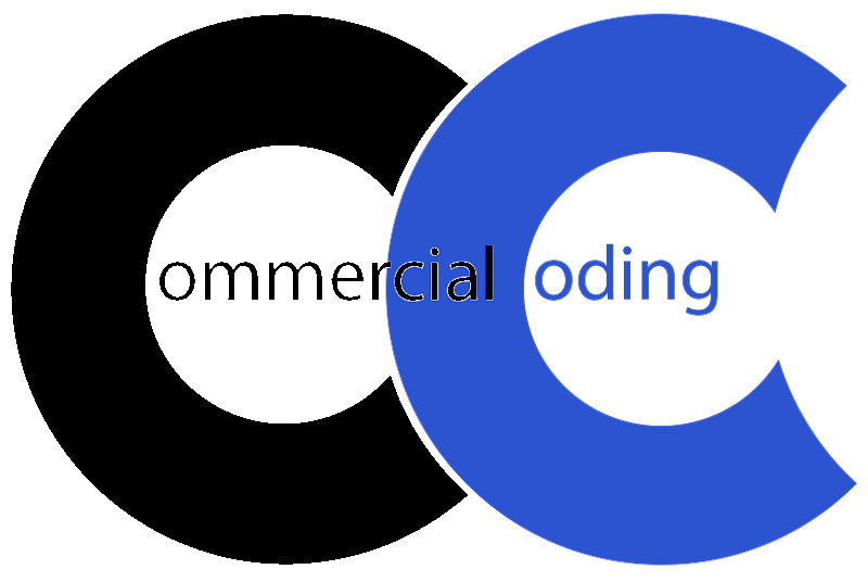 black commercial coding logo