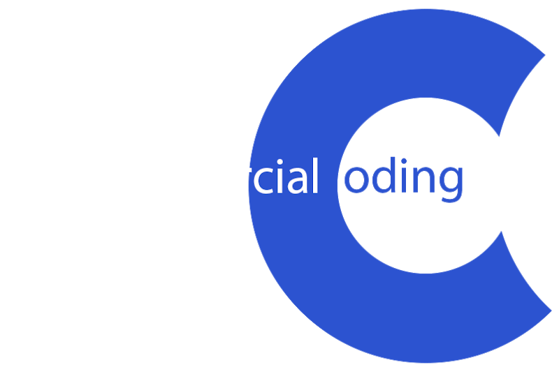 footer commercial coding logo